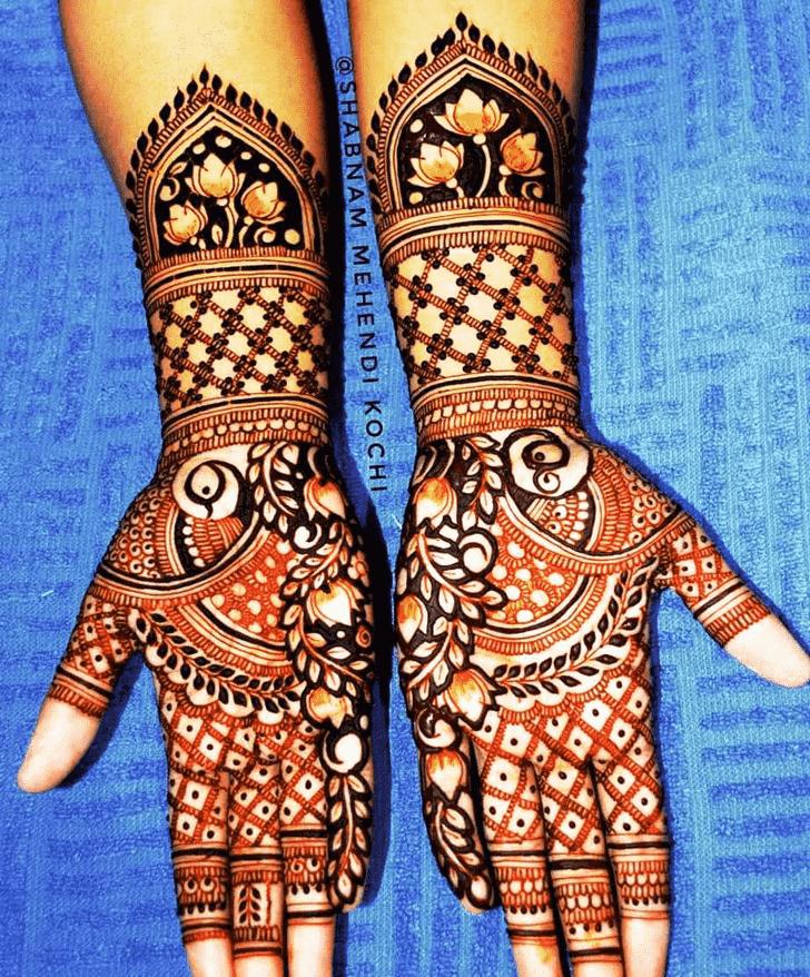 Appealing Actress Henna design