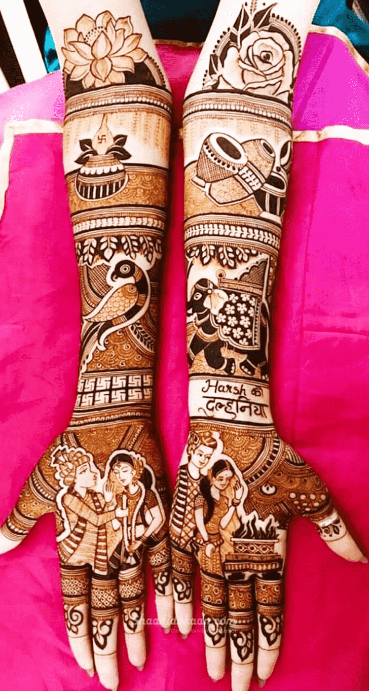 Resplendent Adorable Henna design