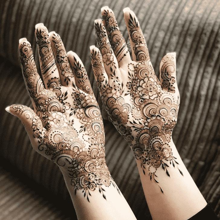 Bewitching Agra Henna Design