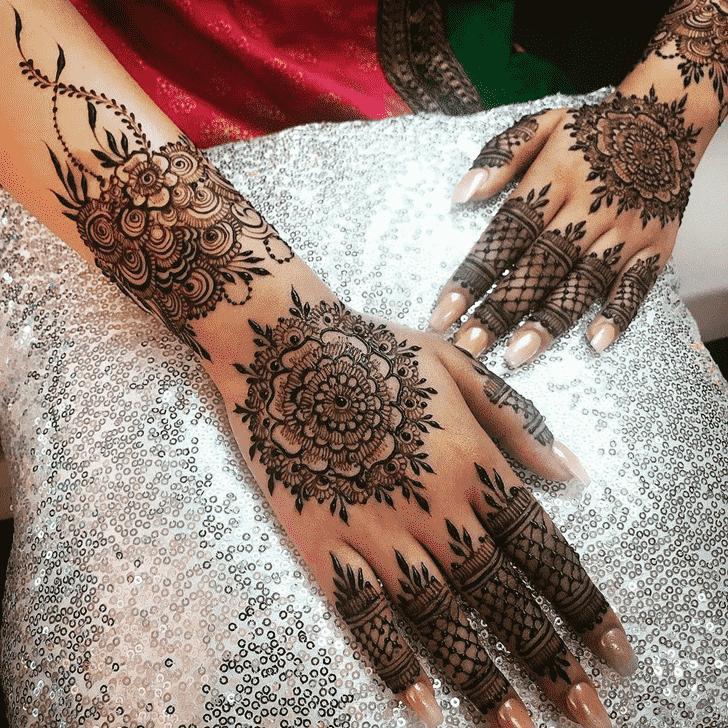 Charming Agra Henna Design