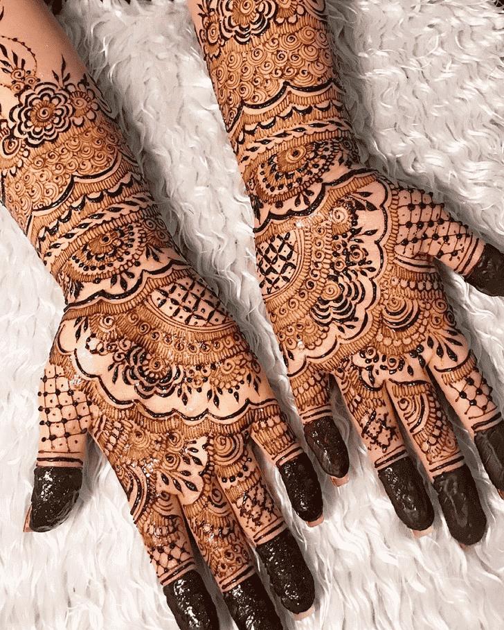 Exquisite Agra Henna Design