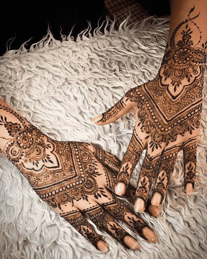 Magnificent Agra Henna Design
