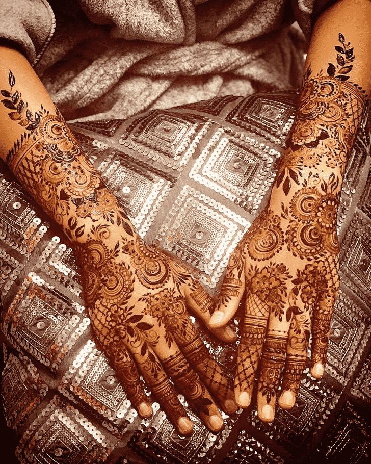 Mesmeric Agra Henna Design