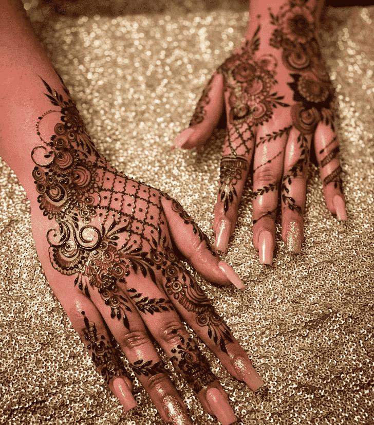 Nice Agra Henna Design