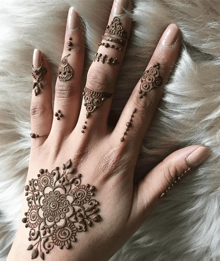 Fair Alluring Henna Design