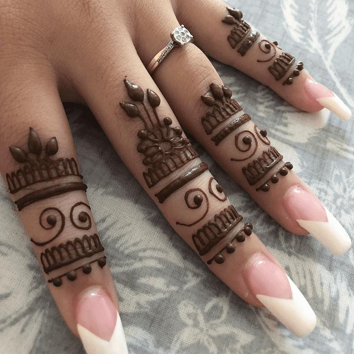 Graceful Alluring Henna Design