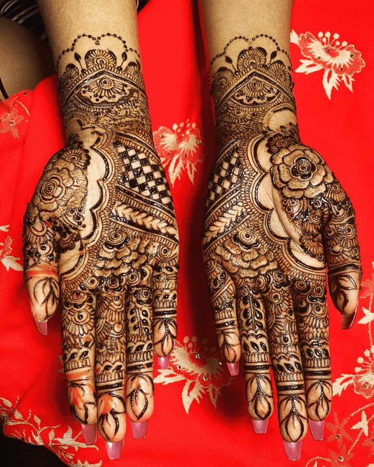 Appealing Amalaki Ekadashi Henna Design
