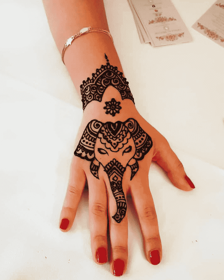 Angelic Animal Henna Design