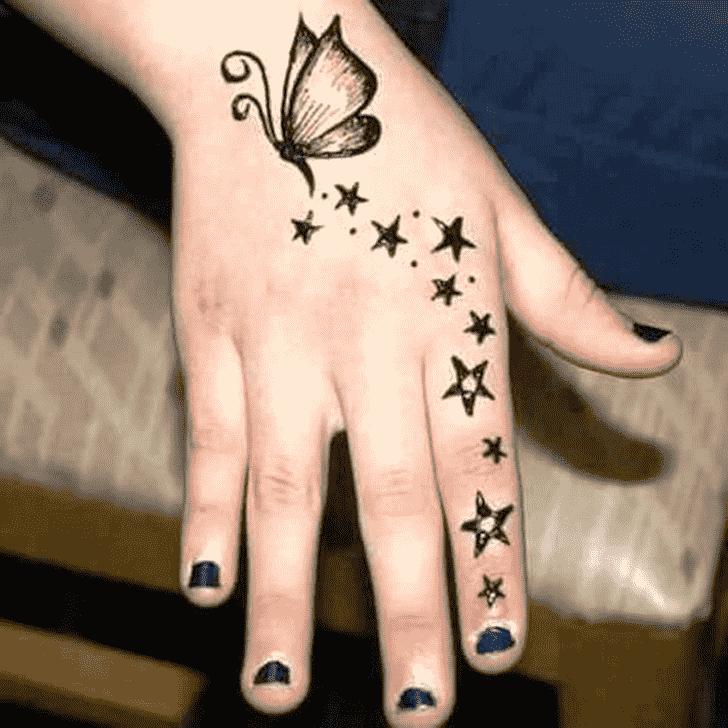 Appealing Animal Henna Design