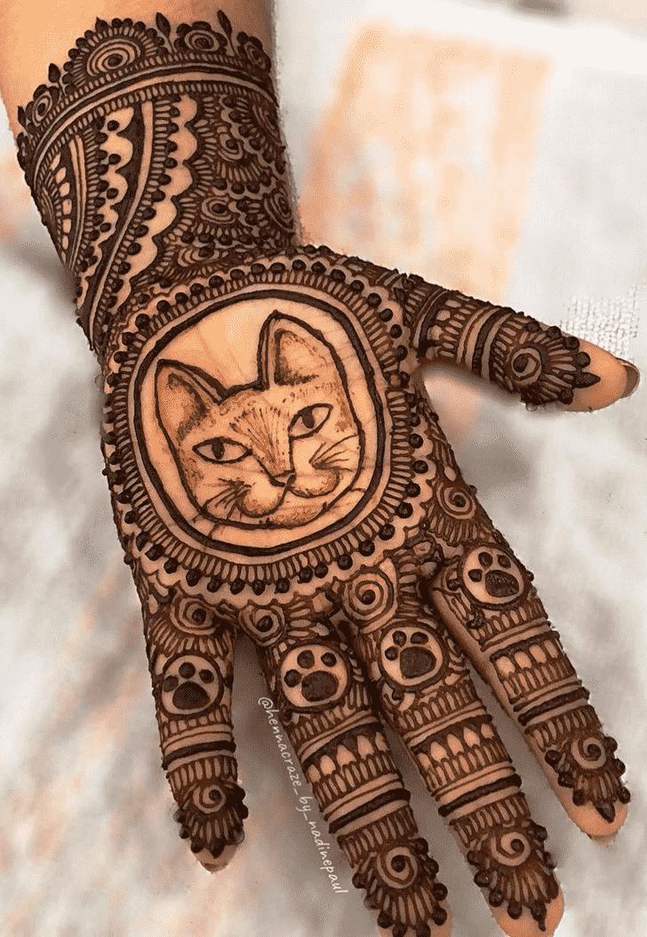 Beauteous Animal Henna Design