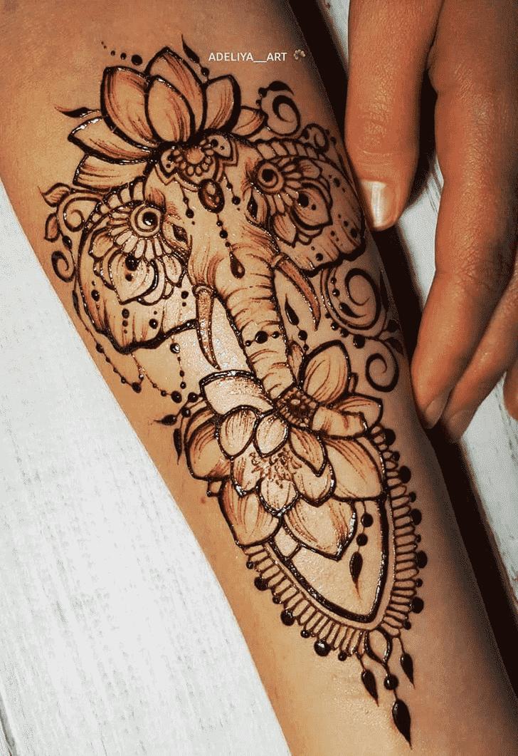 Charming Animal Henna Design