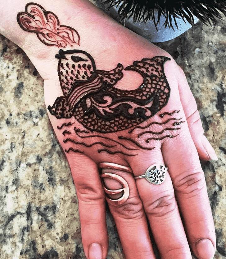 Enthralling Animal Henna Design