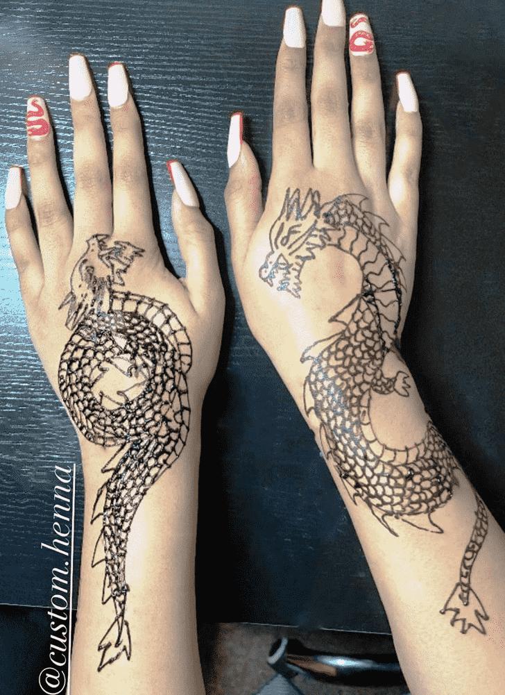 Excellent Animal Henna Design