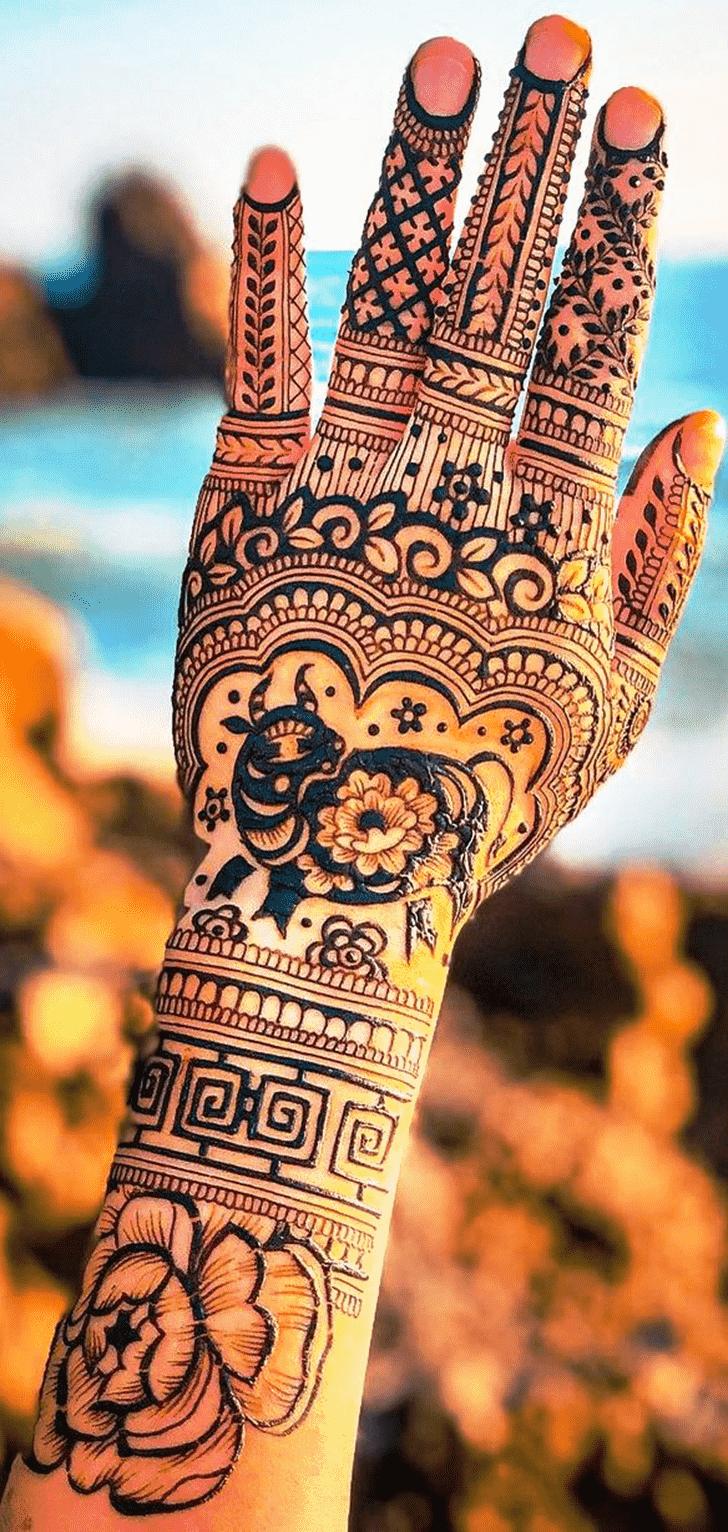 Good Looking Animal Henna Design