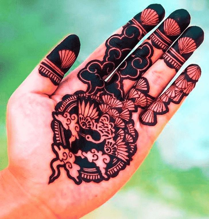 Gorgeous Animal Henna Design