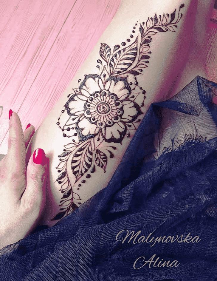Appealing Arab Henna Design