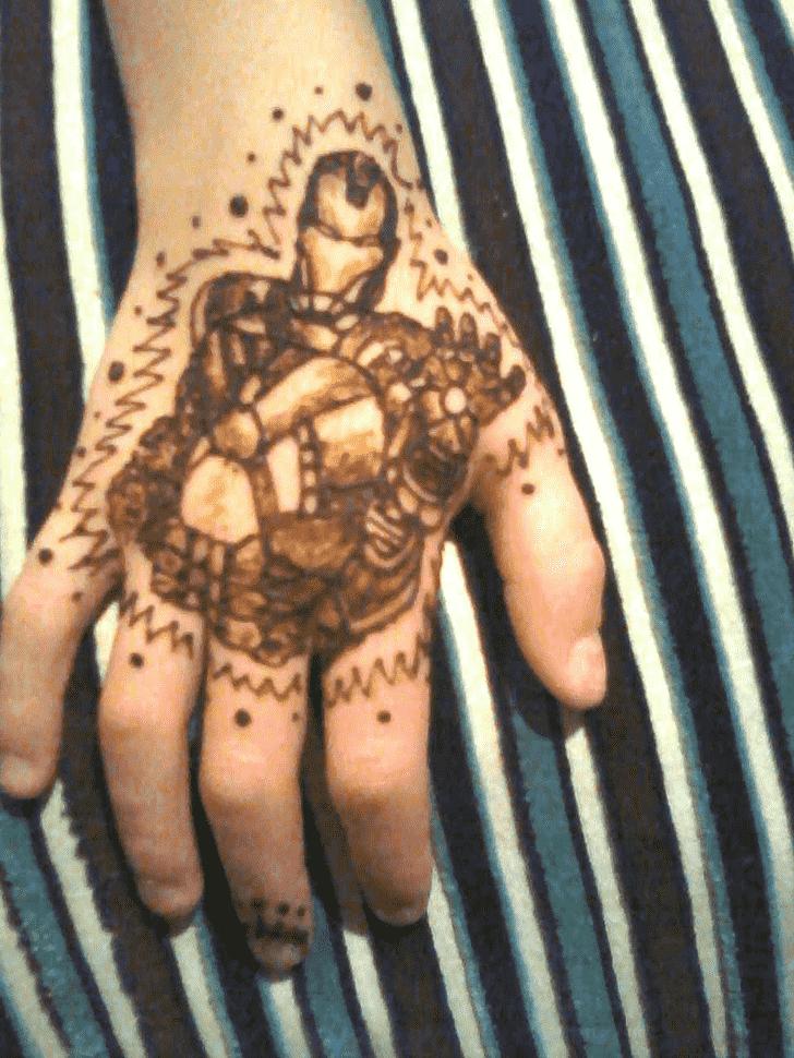 Iron Man Henna on Hand