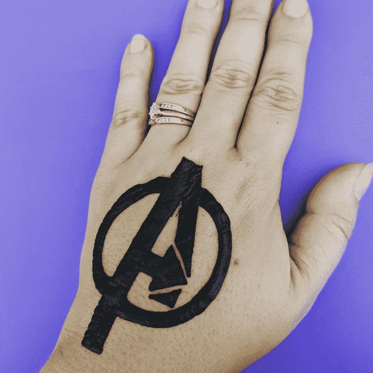 Delightful Avengers Henna Design