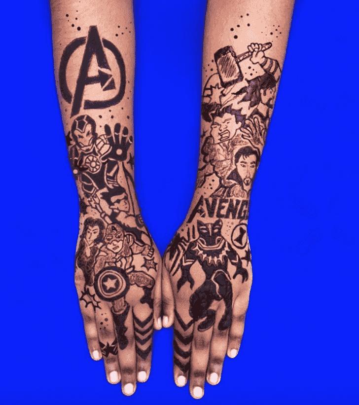 Arm Avengers Henna Design