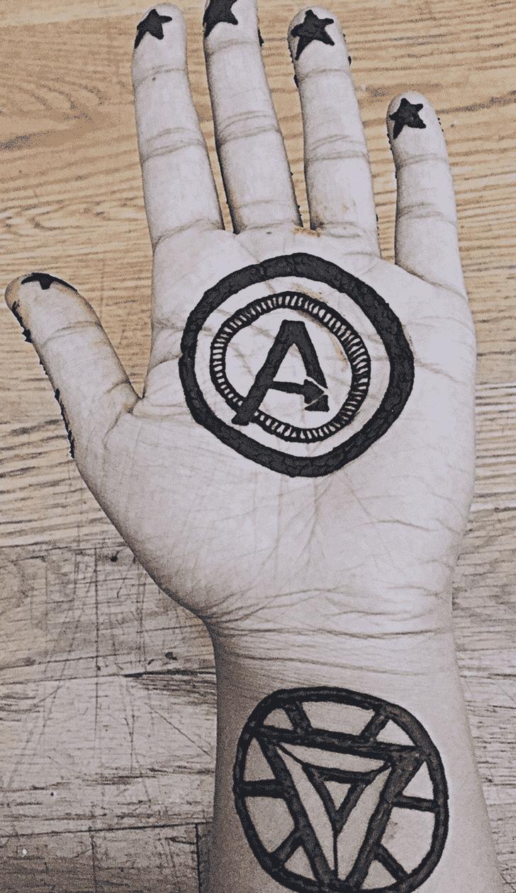 Enthralling Avengers Henna Design