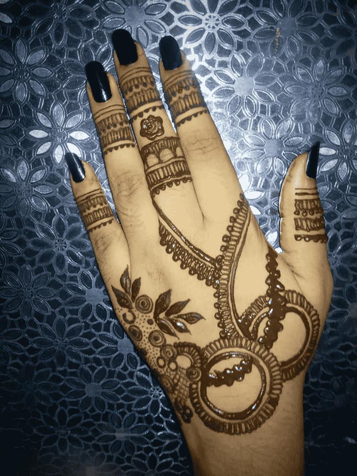 Captivating Back Hand Henna Design