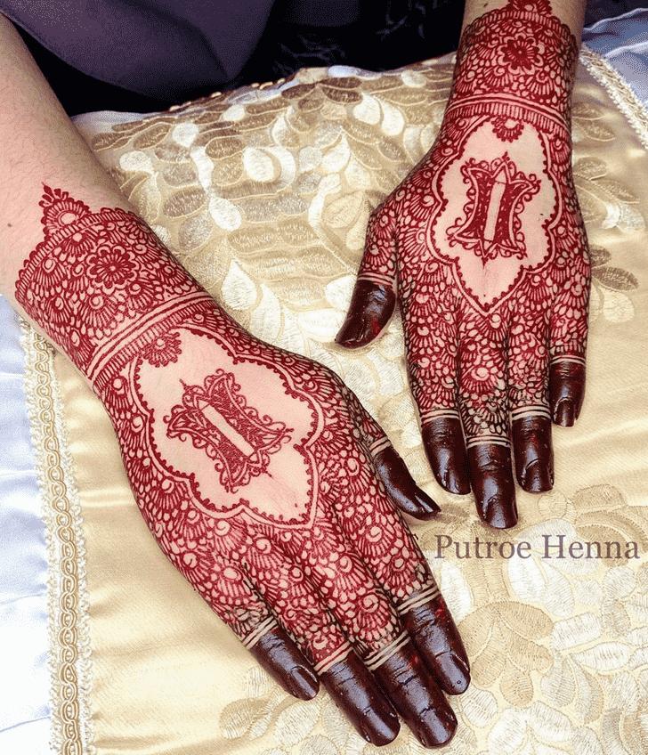 Refined Back Hand Henna Design