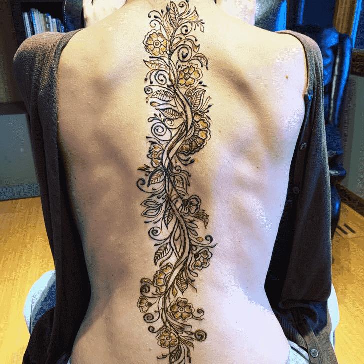 Angelic Back Henna design
