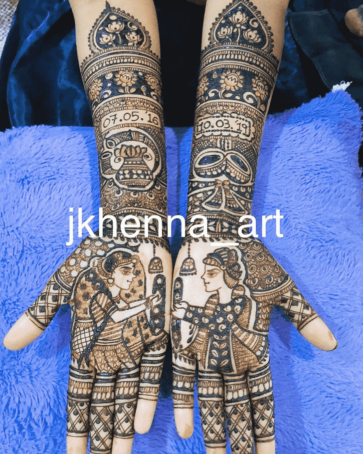 Admirable Badghis Mehndi Design