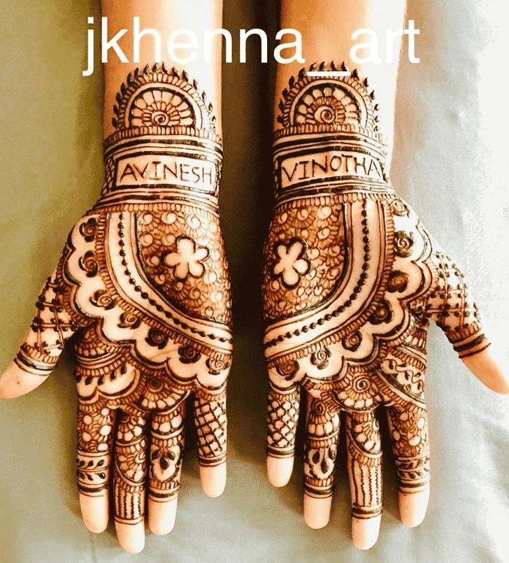 Classy Badghis Henna Design
