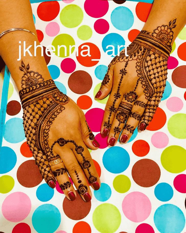 Enthralling Badghis Henna Design