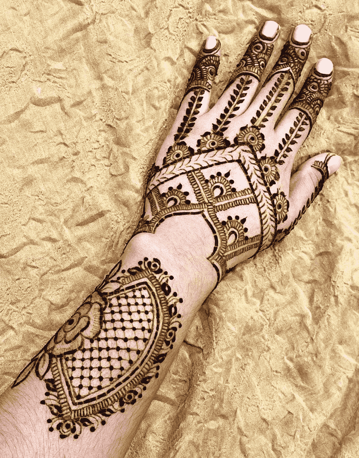 Adorable Bangalore Henna Design