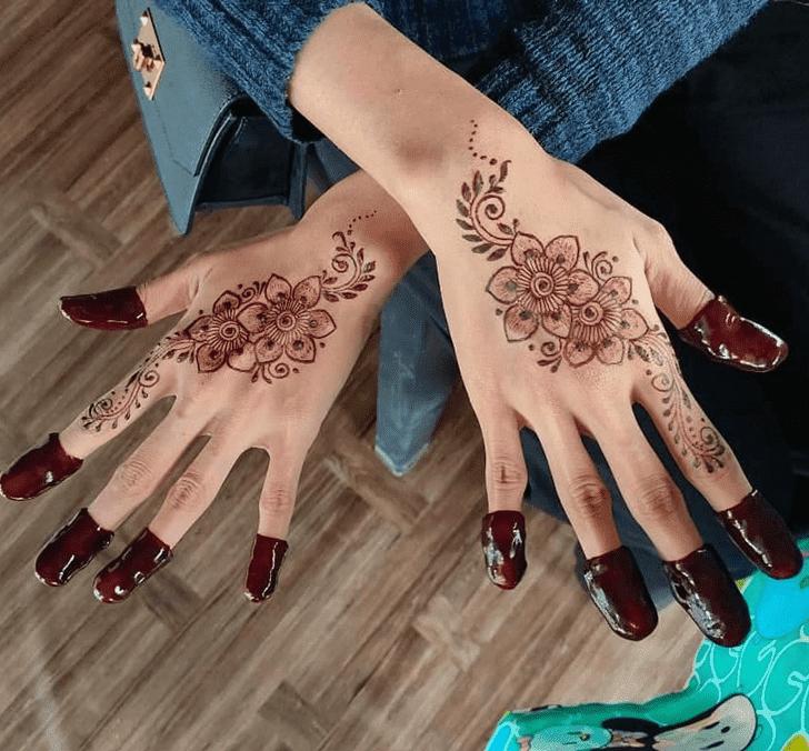 Angelic Bengali Henna Design