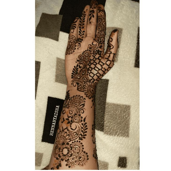 Beauteous Bengali Henna Design