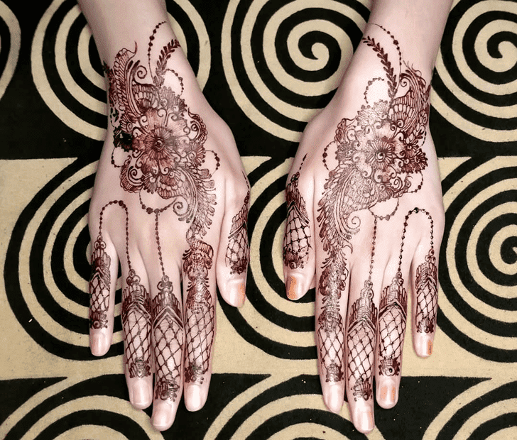 Captivating Bengali Henna Design