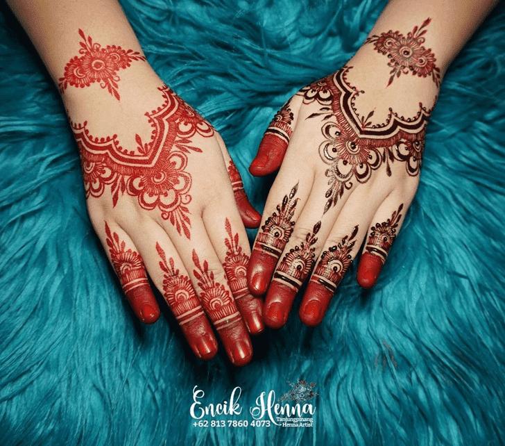 Charming Bengali Henna Design
