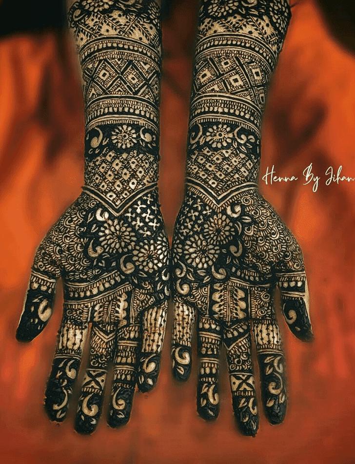 Adorable Bhai Dooj Henna Design