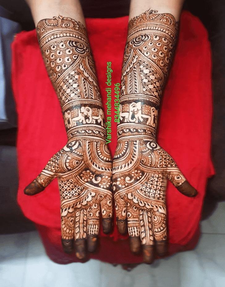 Angelic Bhai Dooj Henna Design