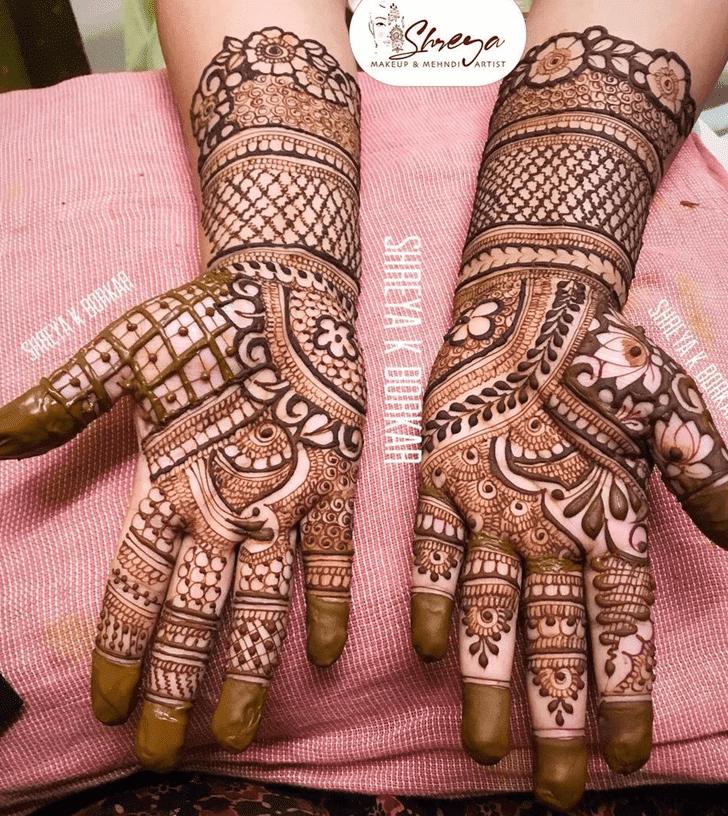 Bewitching Bhai Dooj Henna Design