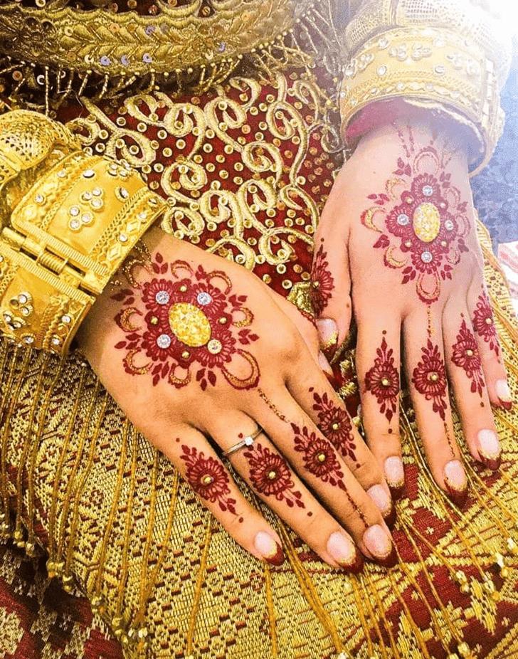 Classy Bhai Dooj Henna Design