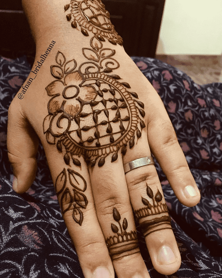 Captivating Bharatpur Henna Design