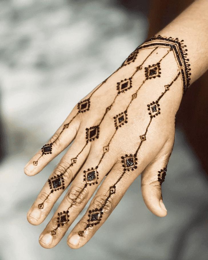 Charming Bharatpur Henna Design