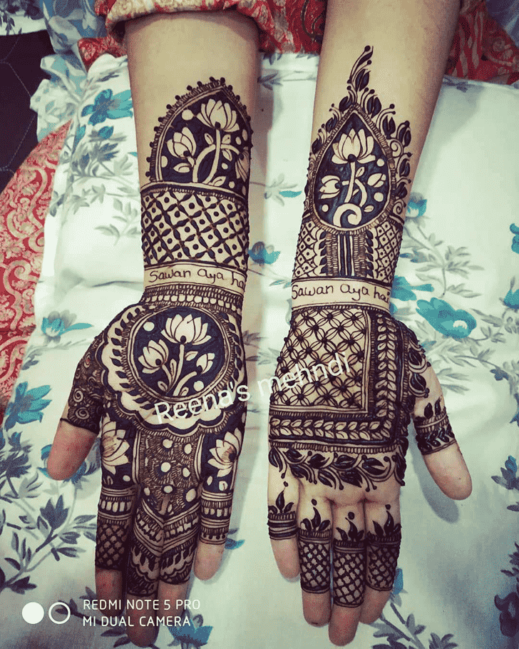 Beauteous Bhopal Henna Design