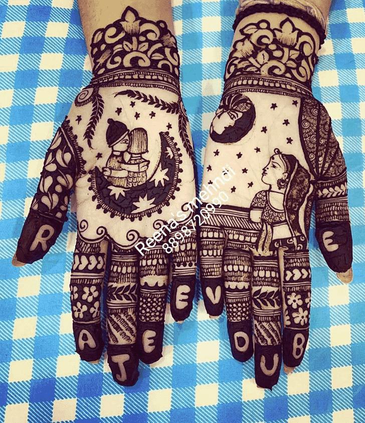 Classy Bhopal Henna Design