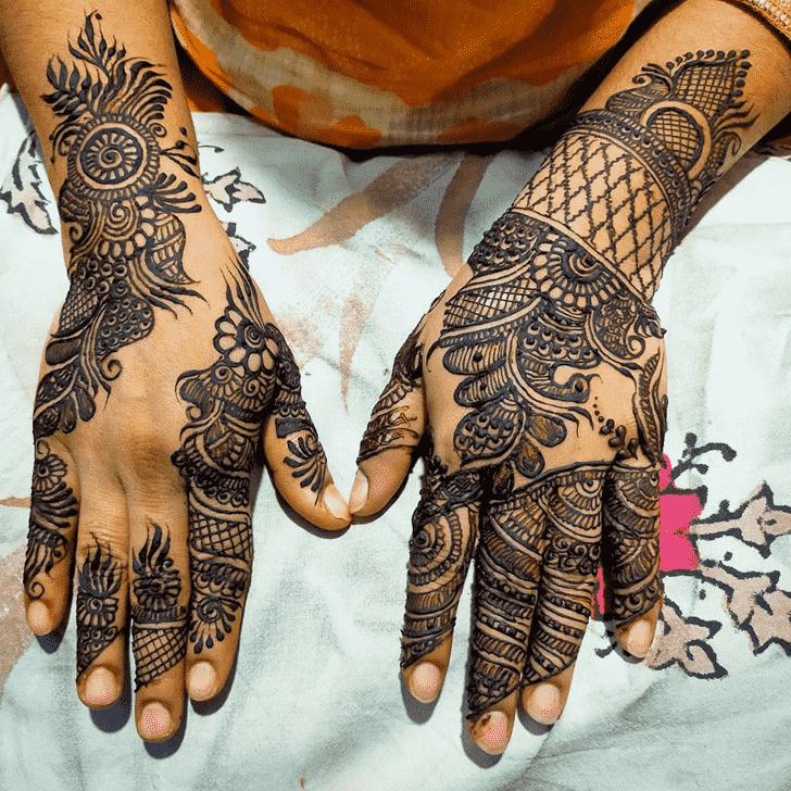 Charming Bhubaneswar Henna Design