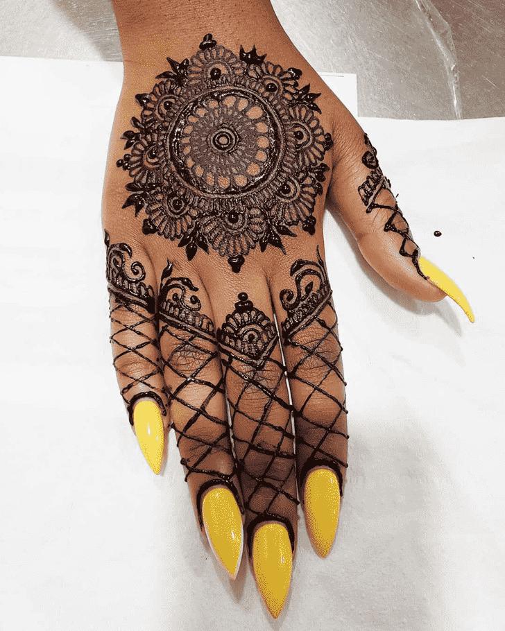 Bewitching Black Henna design