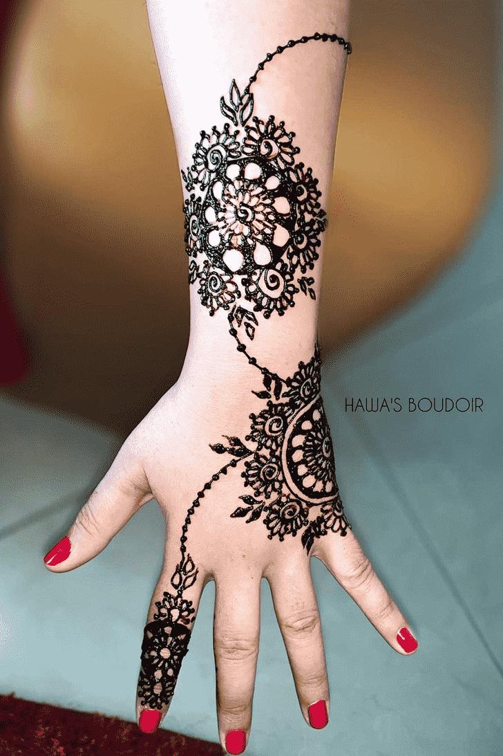 Comely Black Henna design