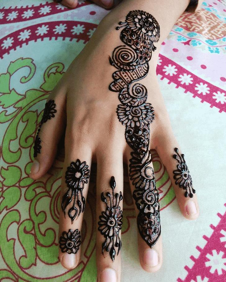 Ideal Black Henna design