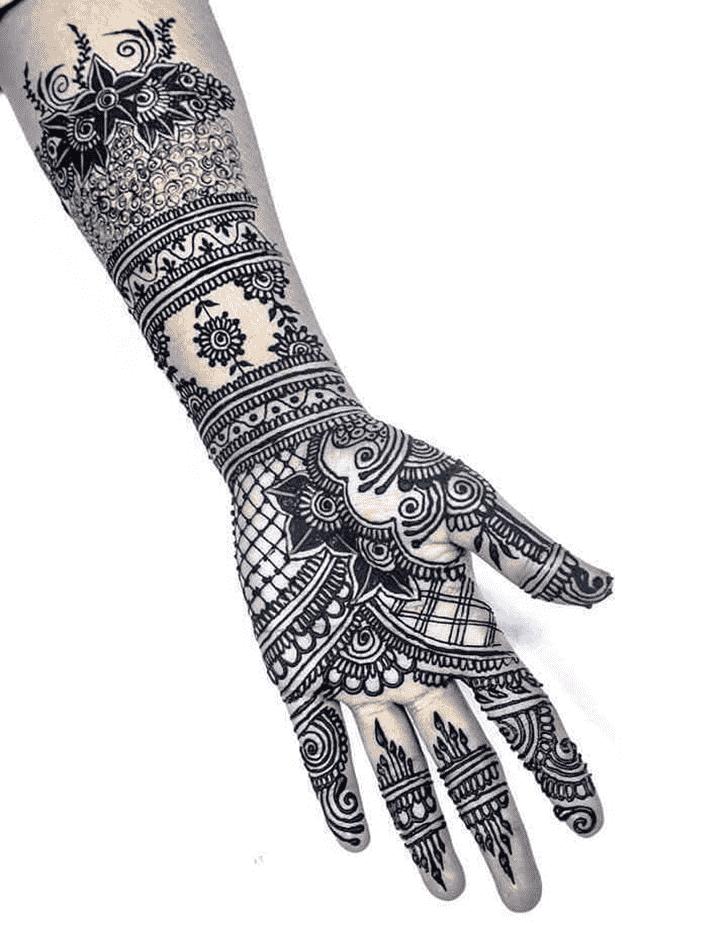 Mesmeric Black Henna design