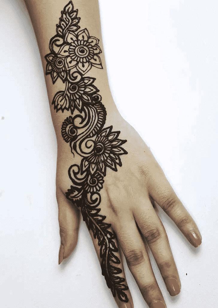 Nice Black Henna design