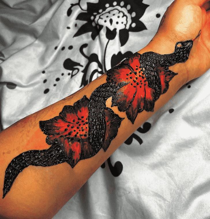 Resplendent Black Henna design